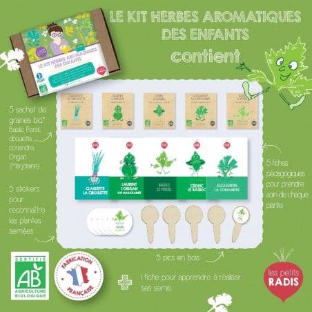 Kit herbes aromatiques bio des enfants