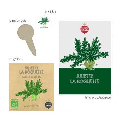 Graines de roquette bio - Juliette la Roquette