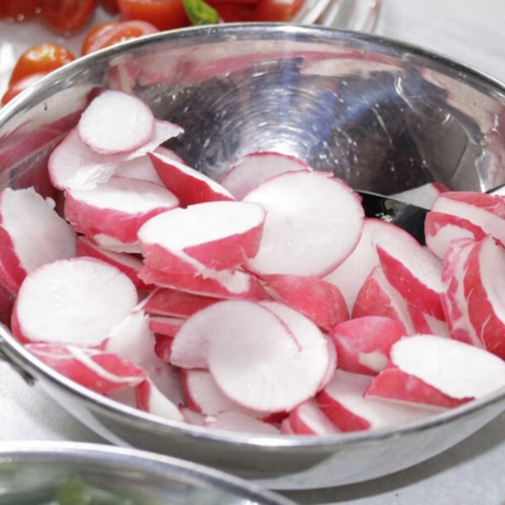 salade radis à la ciboulette