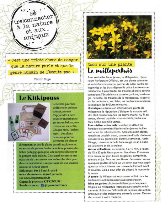 kit potager magazine Open Mind