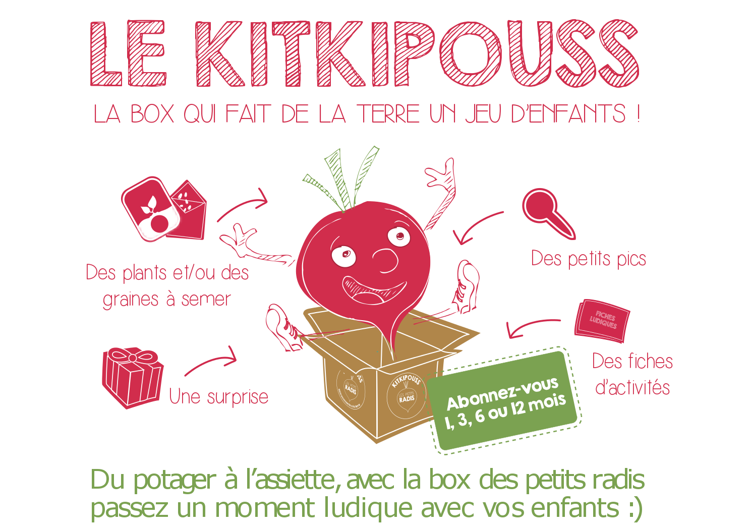 Le kitkipouss c 39 est quoi les petits radis - Comment semer des radis ...